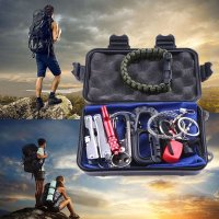 10 in 1 SOS Emergency Survival Equipment Kit Outdoor Camping Gear Tool Set