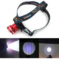 Aluminium Alloy LED Headlamps Portable Strong Lighting Outdoor Hiking Camping Lights White/Red