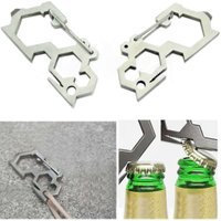 New Multi Tool Camping EDC Carabiner Screwdriver Wrenches Bottle Opener Tool Travel Kits EA14