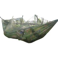Portable Camping Outdoor Hammock Hanging Nylon Bed + Mosquito Net (Camo)