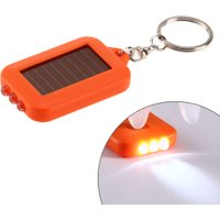 Solar Energy 3 LED Light Electric Key Chain Torch Outdoor Camping Pocket Flashlight Mini Key Chain Torch Solar Powered Lamp